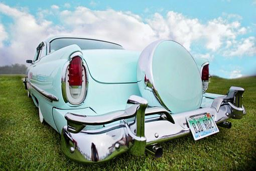 Vintage Car, Turquoise, Old, Automobile, Auto, Retro
