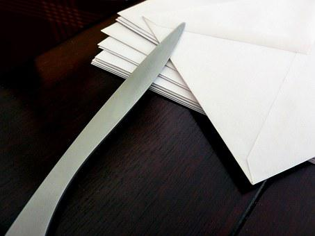Letters, Envelope, Mailbox, Paper Knife, Office