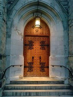 Church Door, Door, Entrance, Old, Religion, Building