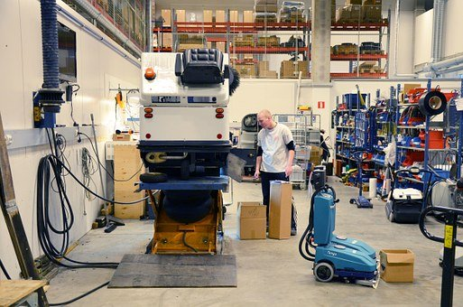 Repair, Smithy, Workshop, Young, Man, Hall, Industry