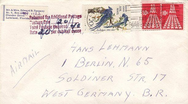 Letters, Air Mail, Envelope, Stamp, Paper