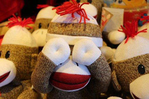 Stuffed Animal, Monkey, Toy, Stuffed, Childhood
