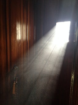 Dust, Doorway, Door, Window, Sunlight, Architecture