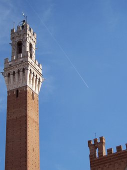 Torre, Siena, Medieval Tower, Tuscany, Italy, Plane