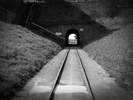 Gleise, Old, Rails, Transport, Metal, Abandoned