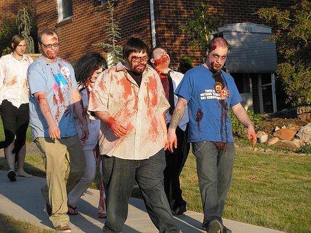 Zombie, Parade, Walking Dead, Costume, Halloween