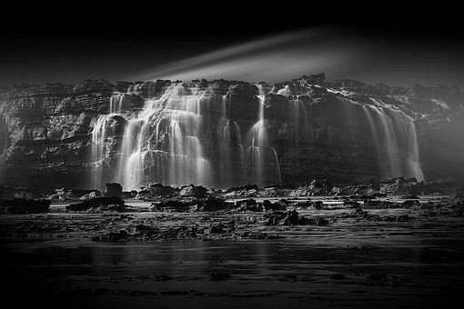 Rock Coral, Waterfalls, Morning Illusion, Long Exposure
