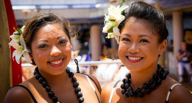 Portrait, Women, Polynesian, Female, Girl, Young, Happy