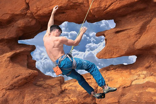 Climbing, Mountain, Man, Extreme, Sport, Adventure