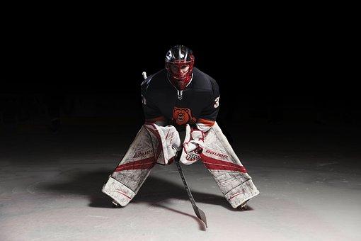Sports, Ice Hockey, Ice, Hockey, Goalie, Athelete