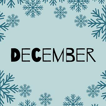 December, Month, Organizer, Calendar, Monthly, Design