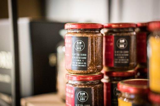 Jars, Marmalade, Condiments, Product, Food