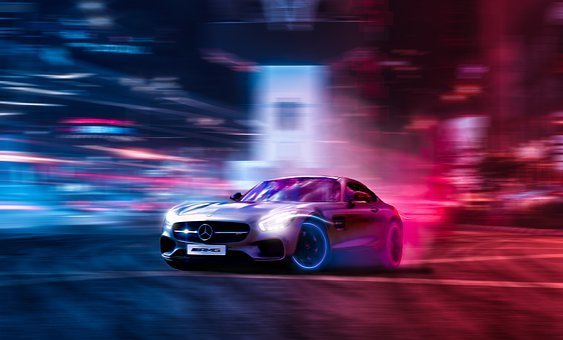 Car, Drift, Drifting, Car Racing, Mercedes-benz, Smoke