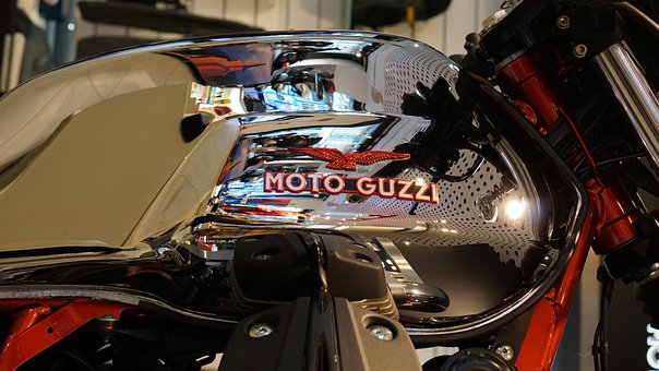 Motorcycle, Engines, Italian Style, Chrome, Class
