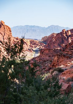 Desert, Road, Highway, Freeway, Route, Valley