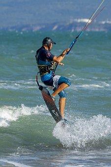 Kitesurfing, Kiteboarding, Extreme Sport, Water Sport