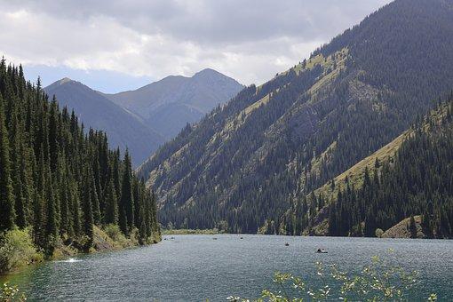 Mountains, Lake, Landscape, Nature, Mountain Range