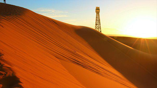 Dunes, Sand, Sand Dunes, Desert, Landscape, Sunset