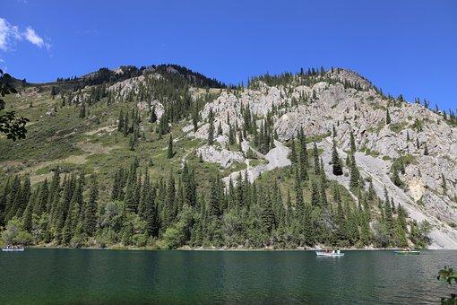 Mountains, Lake, Landscape, Nature, Water, Boats