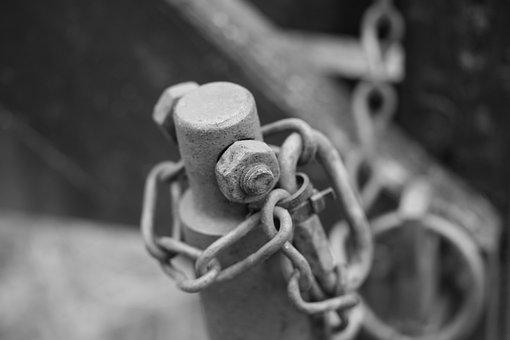 Chain, Metal, Enclosure, Screw, Pole