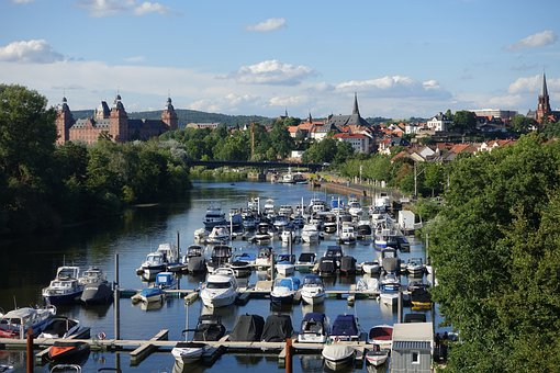 Port, Harbor, Boats, Raft Harbor, Aschaffenburg