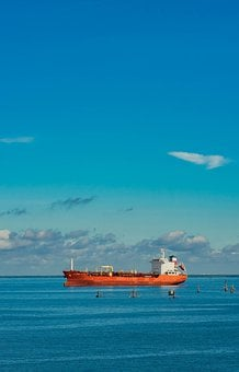 Boat, Ship, Tanker, Tanker Ship, Ocean, Sea, Water