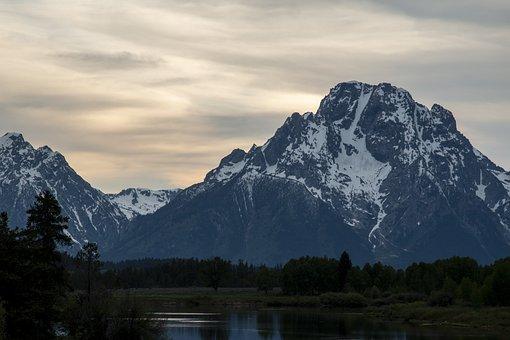 Mountains, River, Landscape, Scenic, Scenery, Twilight