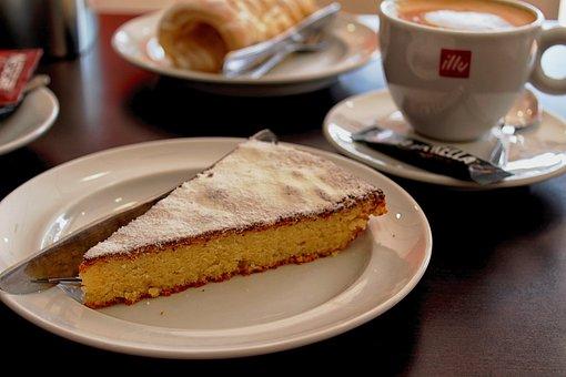Cake, Pie, Dessert, Food, Sweet, Bake, Plate, Coffee