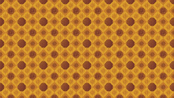 Flowers, Copper, Floral, Tile, Repeat, Background