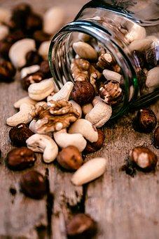 Nuts, Mix, Food, Snack, Walnuts, Hazelnuts, Healthy