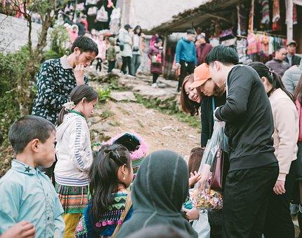 Vietnam, Travel, Sa Pa Town, People, Children, Asian