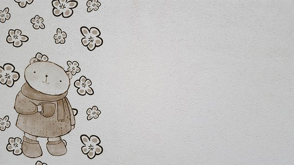 Bear, Flowers, Scarf, Coat, Mug, Cup, Winter, Flora
