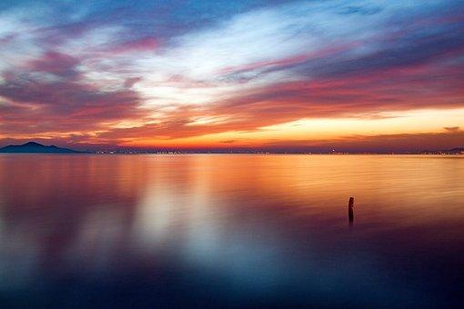 Sea, Ocean, Beach, Water, Seascape, Sunset, Sunrise