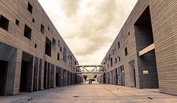 Buildings, Bridge, Construction, Symmetrical, Symmetry