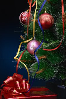 Decorations, Christmas, Balls, Christmas Tree