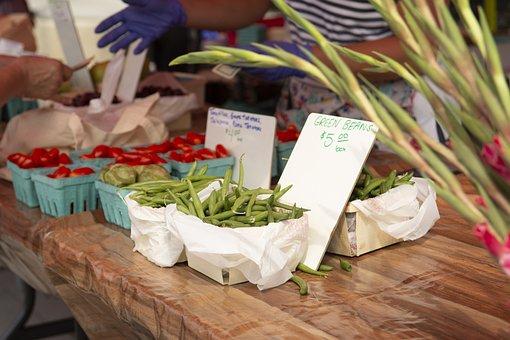 Farmers Market, String Beans, Vegetables