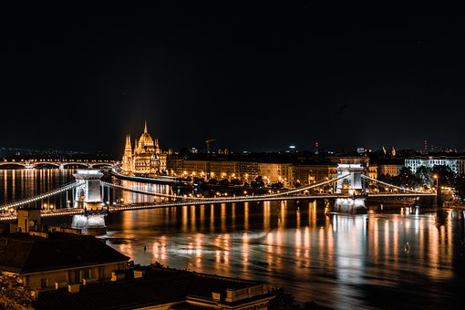 Bridge, Chain Bridge, Budapest, Hungary, Parliament