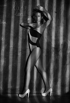 Woman, Model, Stripes, Style, Fashion, Elegant