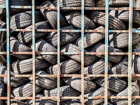 Tires, Used, Rubber, Auto, Waste, Recycling, Automotive
