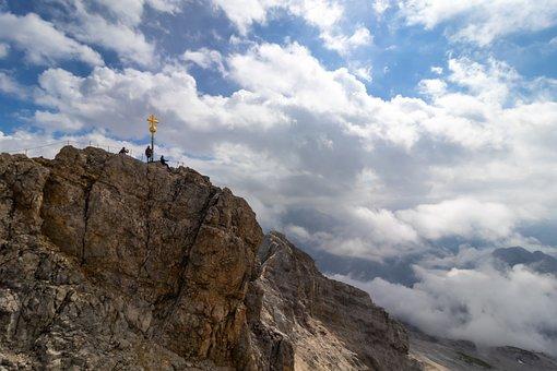 Mountains, Clouds, Climbing, Alps, Alpine, Outdoors