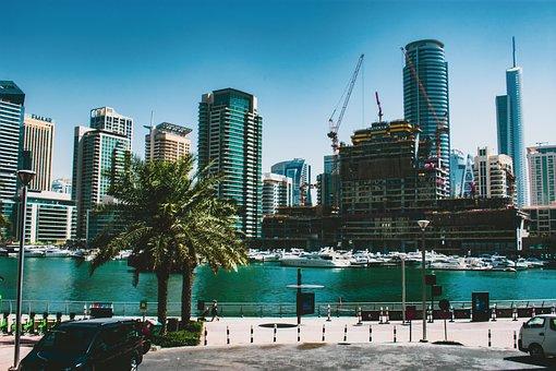 Skyline, Dubai, Architecture, Skyscrapers, Cityscape