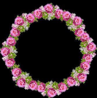 Flowers, Wreath, Frame, Border, Floral, Decoration