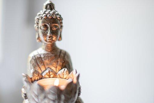 Buddha, Light, Meditation, Spirituality, Tealight
