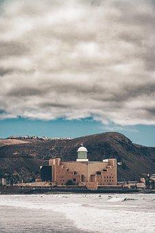 Theatre, Auditorium, Quarries, Beach, City, Sea, Island