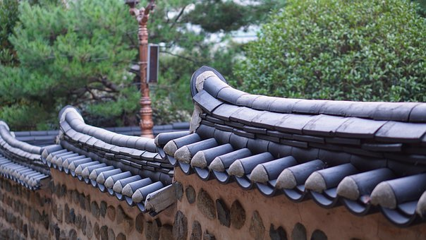 Roof Tile, Tiles, Stone Wall, Cultural, Property
