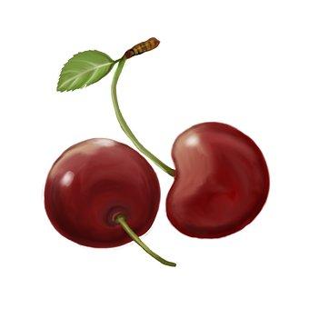 Cherries, Fruit, Food, Sweet, Fresh, Produce, Healthy