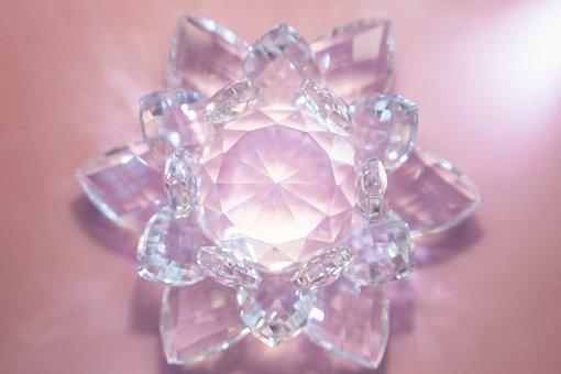 Crystal, Flower, Glitter, Flicker, The Glare, Light