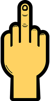 Hand, Gesture, Finger, Middle Finger, Insult