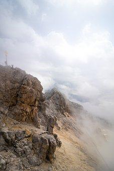Hiking, Mountains, Clouds, Climbing, Alps, Alpine