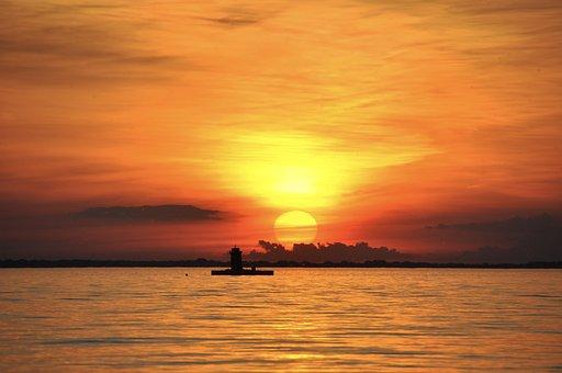 Lake, Sunset, Water, Nature, Landscape, Peaceful, Still